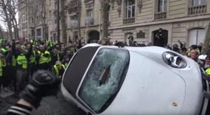 Spoor van vernieling aangericht in Parijs