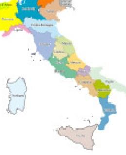 Cartina Italia colore vettor_V2