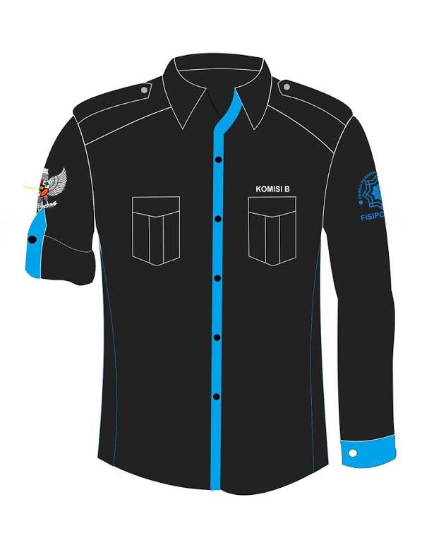 baju seragam pdl hitam