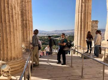Masses of marble steps mobbed with tourists like ourselves. We've found the Versailles of Athens.