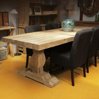 Oud eiken tafels Maatwerk tafels van oud eikenhout