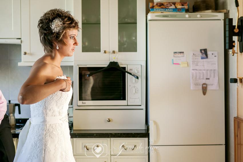 Preparativos de la novia antes de la boda en León