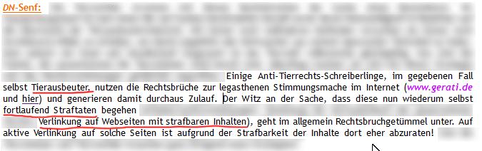 Screenshot Doggennetz.de Tageslink TL112/14