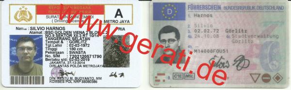 Nachweis ich lebe in Indonesien