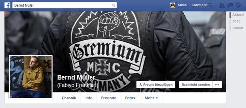 Kriminelle Vereinigung Gremium MC Screenshot, Facebook Bernd Müller /