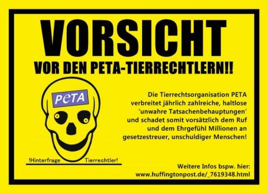 Vorsicht vor PeTA