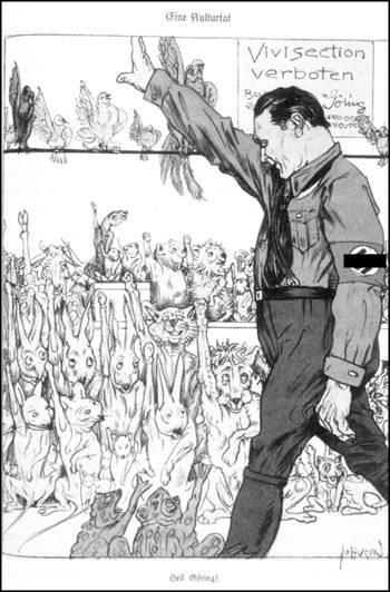 """Karikatur in der Zeitschrift """"Kladderadatsch"""" vom 03.09.1933 - Bilduntertitel: """"Heil Göring!"""" - Bild-Quelle: www.kultur-fibel.de"""