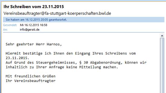 Screenshot Outlook 17.12.2015