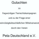 """Gastartikel zum Thema """"Warum gilt PETA als gemeinnützig?!"""""""