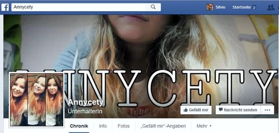 Screenshot Facebook Profil Annalena Hartung