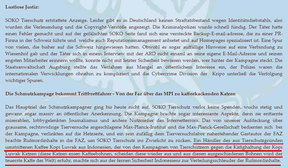 Screenshot soko-tierschutz.org