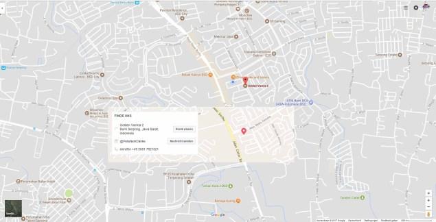 Vergleich Facebook Standort mit Google Maps