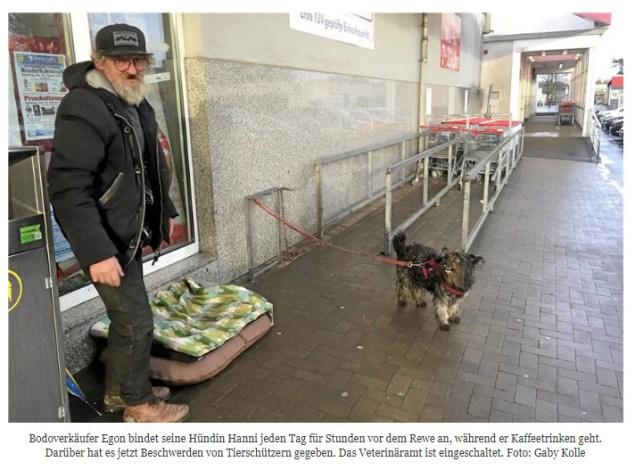 Tierschützerin stiehlt Hund von Obdachlosen / Screenshot: RuhrNachrichten.de