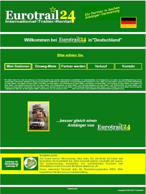 PeTA von Reichsbürgern unterwandert? / Screenshot: eurotrail24.at/eurotrail/deutschland.html