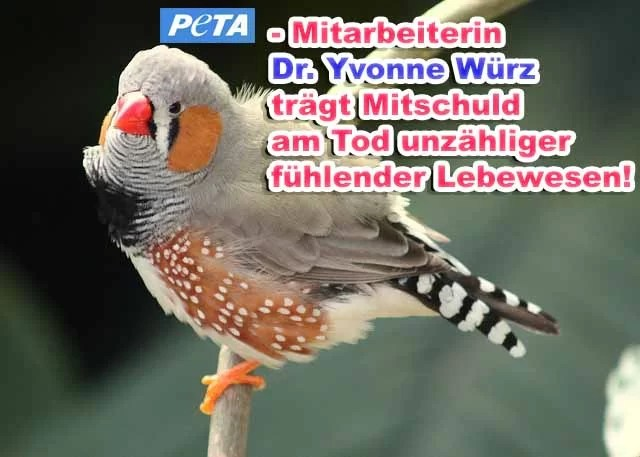 PeTA-Miarbeiterin Dr. Yvonne Würz ist Tierquälerin