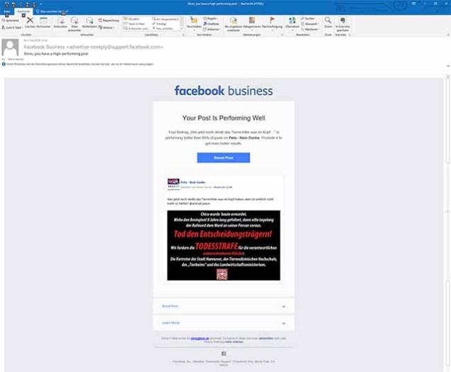 Ob mir Facebook die Werbegebühren erstattet hätte?