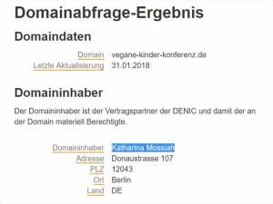 Bei Denic ist keine Adresse in Belize hinterlegt, sondern eine Berliner Adresse.