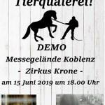 Offener Brief Fragen zur Ankündigung der Demo durch die Partei Bündnis 90/Die Grünen in Koblenz gegen den Circus Krone