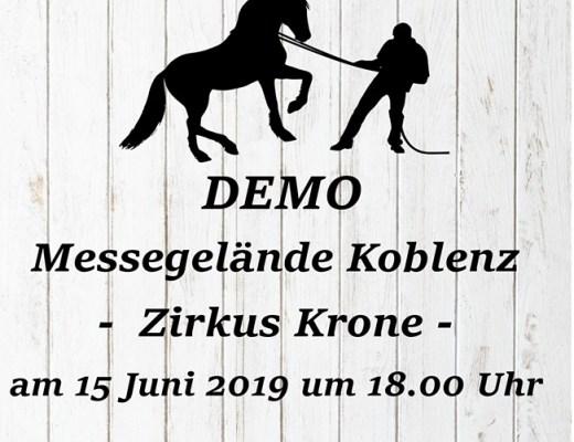 """AK Tierschutz Bündnis 90/Die Grünen Kreis NeuwiedDemo 15.06.2019 Koblenz """"Kein Applaus für Tierquälerei"""""""