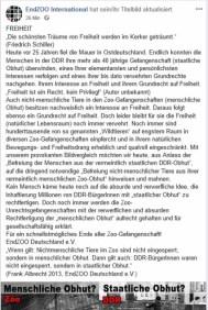 Frank Albrecht von Endzoo feiert heute den Mauerfall!!!