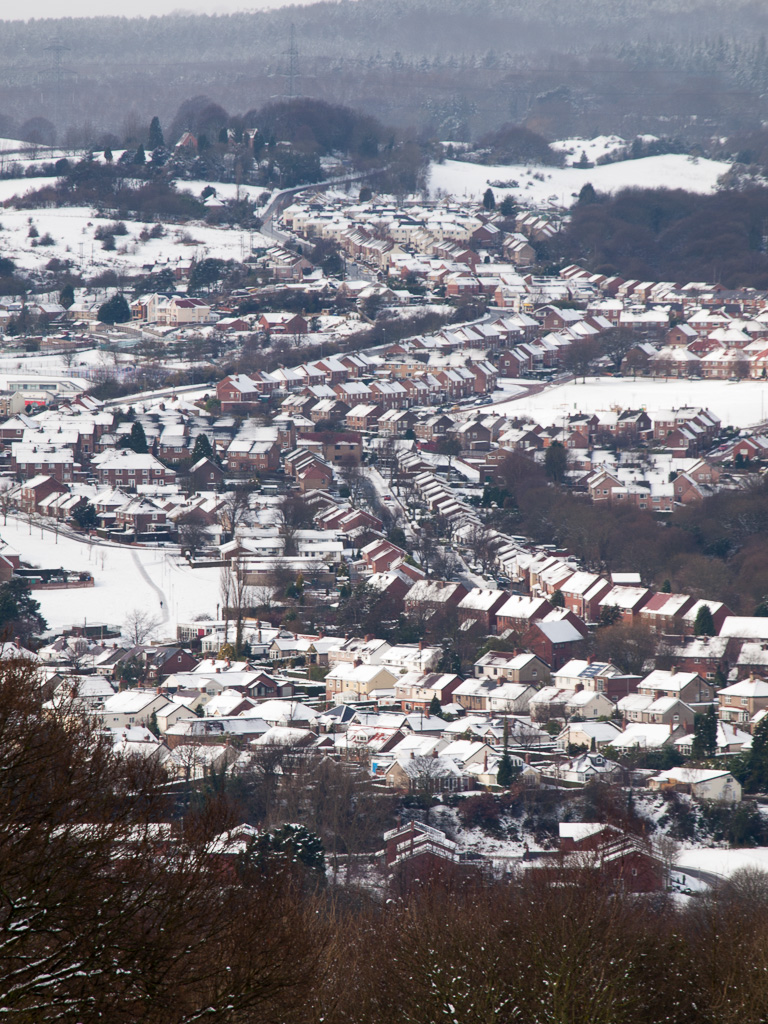 View over Rowlands Gill