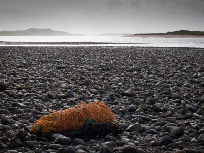 Fishing net on beach
