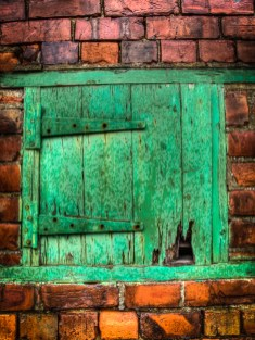 One green door