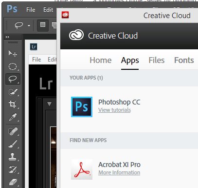 Photoshop, Lightroom and Creative Cloud