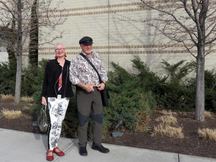 Peter and Gerda at Fashion Place Mall, Salt Lake City. 2016.