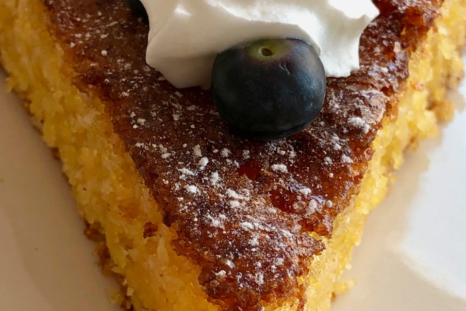 frisse kokos polenta cake