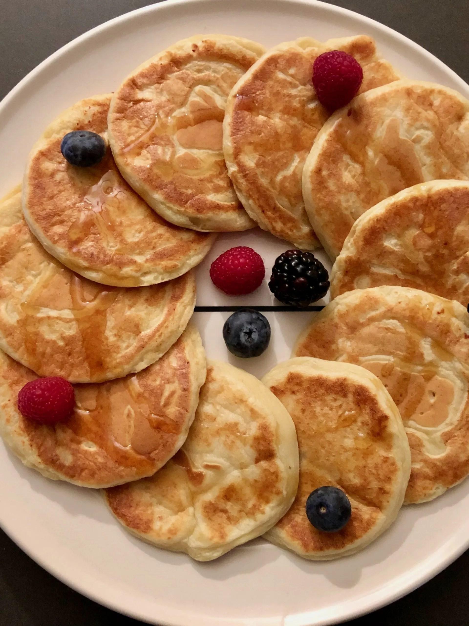 Amerikaanse ricotta-citroen pannenkoeken met botermelk