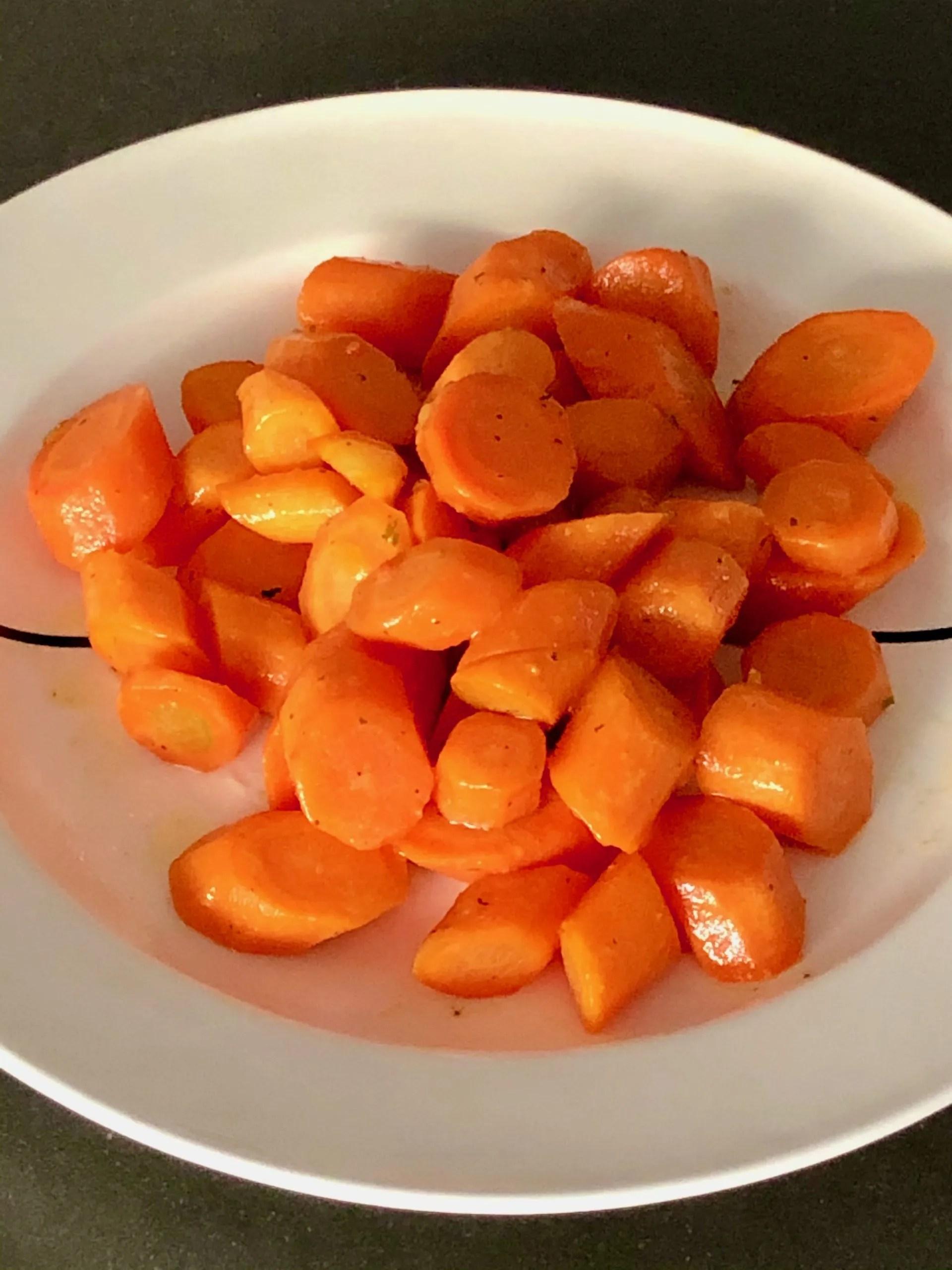 in rum gestoofde wortelen