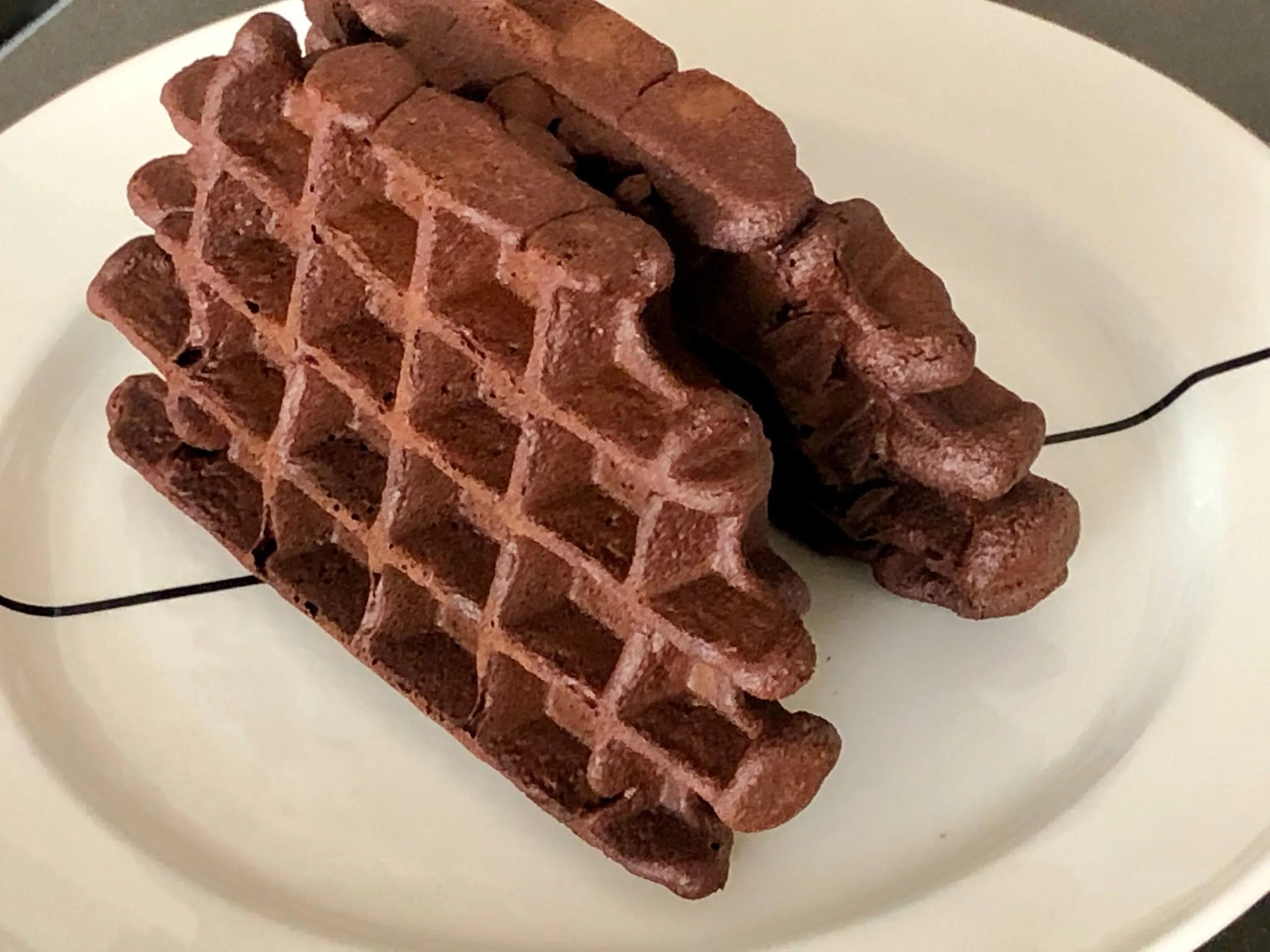 Belgische zwarte wafels