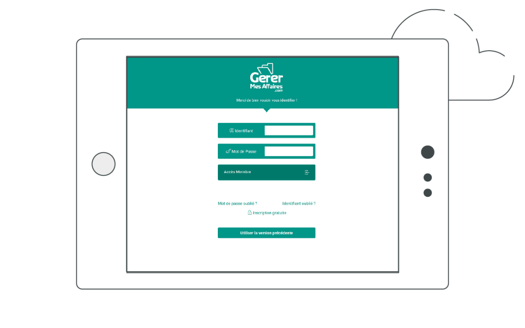 Connexion tablette au coffre-fort numérique privé GererMesAffaires.com