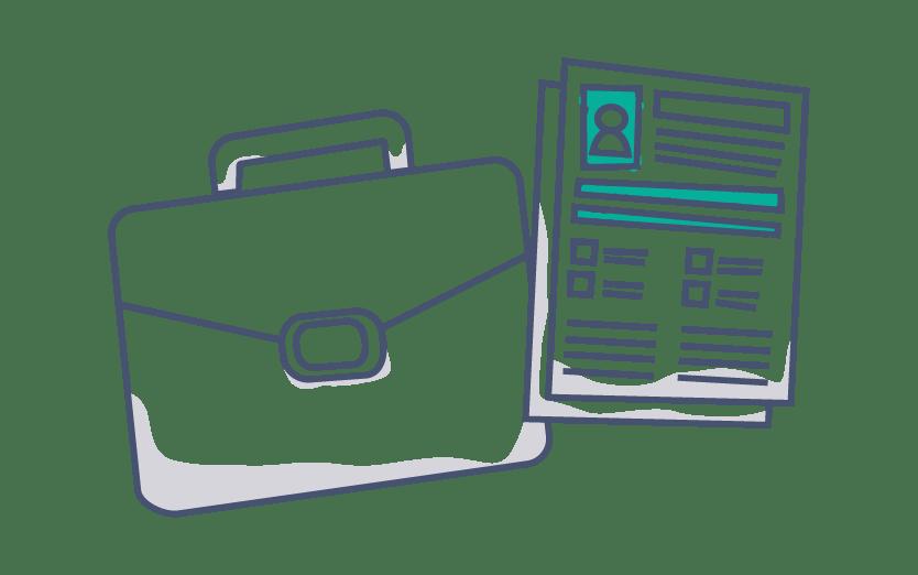 Icone gestion bureau numérique professionnel