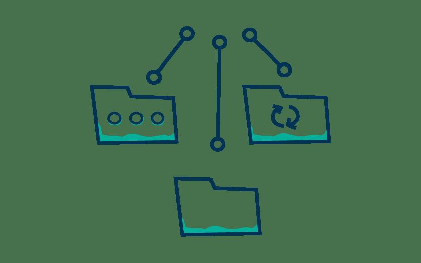 Icone organistation solution de gestion entreprise