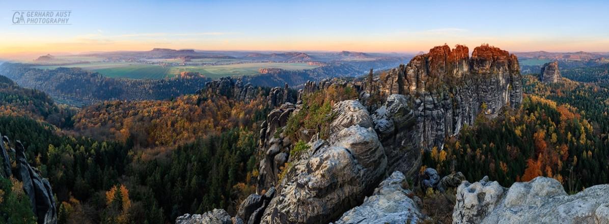 Schrammsteine Sunrise (1)