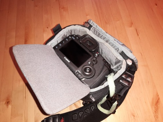 My Canon EOS 5D Mark III fits perfectly!