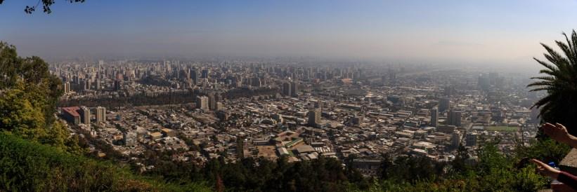 Panaromablick vom Cerro San Cristobal