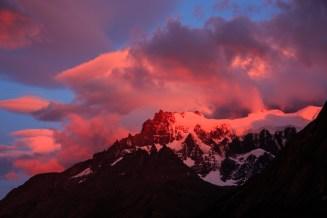 Fantastischer Sonnenaufgang, leider ohne gutes Motiv...