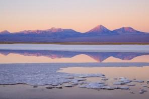 Sonnenuntergang an der Laguna Tebinquiche