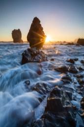 Die Jordale Rocks zum Sonnenuntergang
