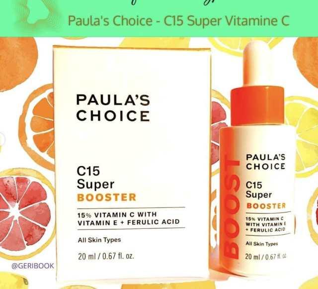 avis revue: Paula's Choice C15 Super Booster Vitamine C cosmétique anti rides anti-âge