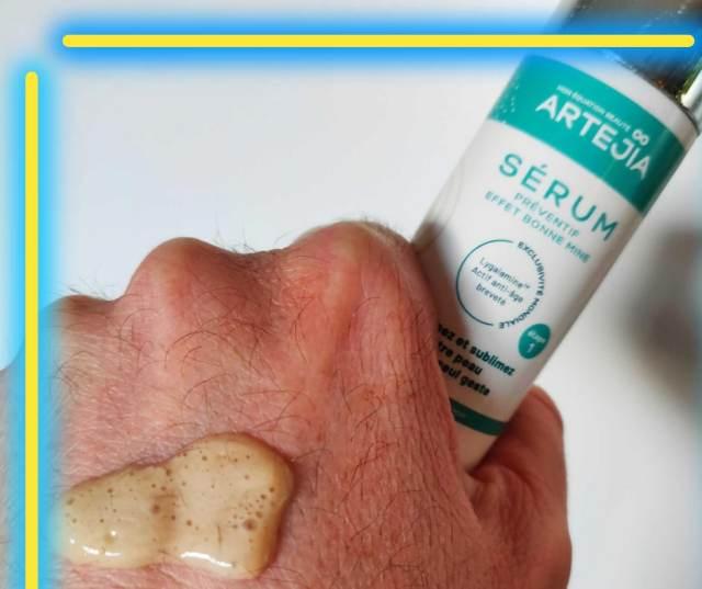 avis test ARTEJIA Sérum Lygalamine effet bonne mine cosmétique antiage bio