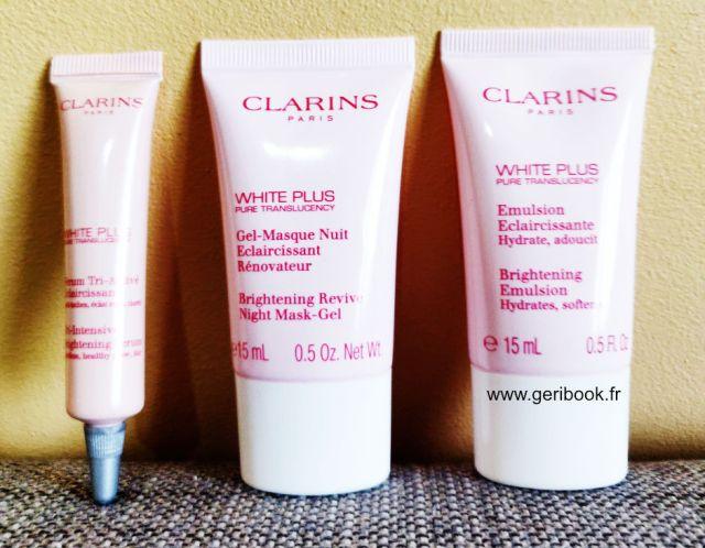 avis sur Clarins White Plus : Illumine, unifie, éclaircit le teint. Peau Asiatique, Peau claire.