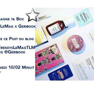 Box beauté TrendysLeMag x Geribook