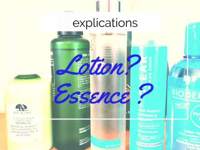 difference lotion essence beaute soin