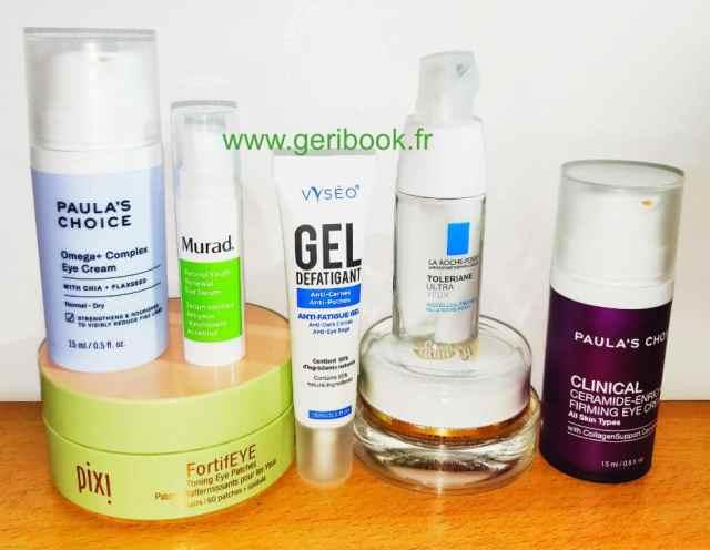 eye cream soin yeux contour meilleurs TOP cosmétiques par Geribook blog beauté