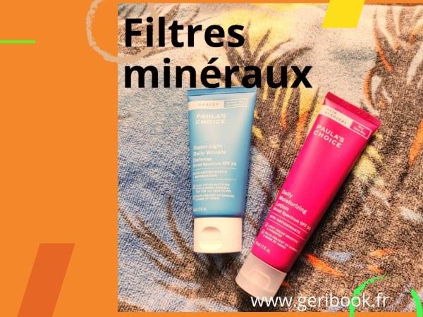 Guide filtres minéraux crèmes solaires SPF30 minérales