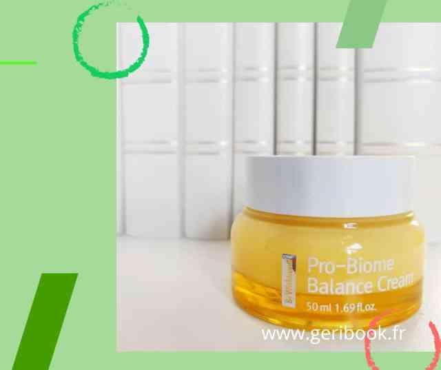 PAR WISHTREND Crème Équilibre Pro-Biome Cette crème hydratante quotidienne est recommandée pour toute personne ayant la peau sensible et à problèmes. Il contient de l'extrait de Propolis, riche en antioxydants et connu pour ses effets apaisants et anti-inflammatoires